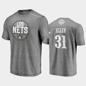Brooklyn Nets Jarrett Allen Gray T-Shirt